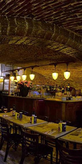 De restaurant in het sous-sol !