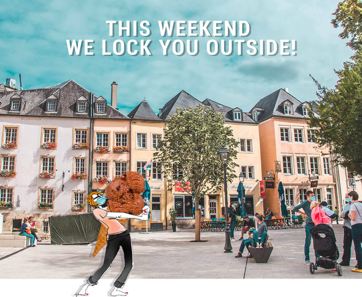 This weekend we lock you outside! ☀️